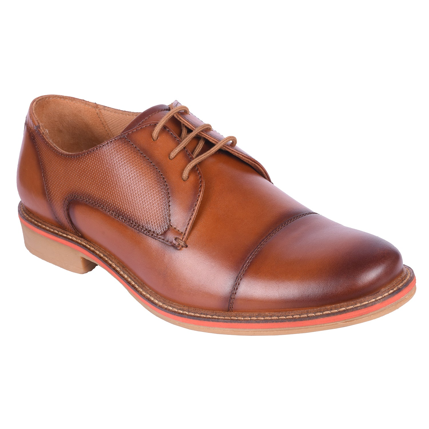 Dino Tan Embossed Lace Up Formal Shoe