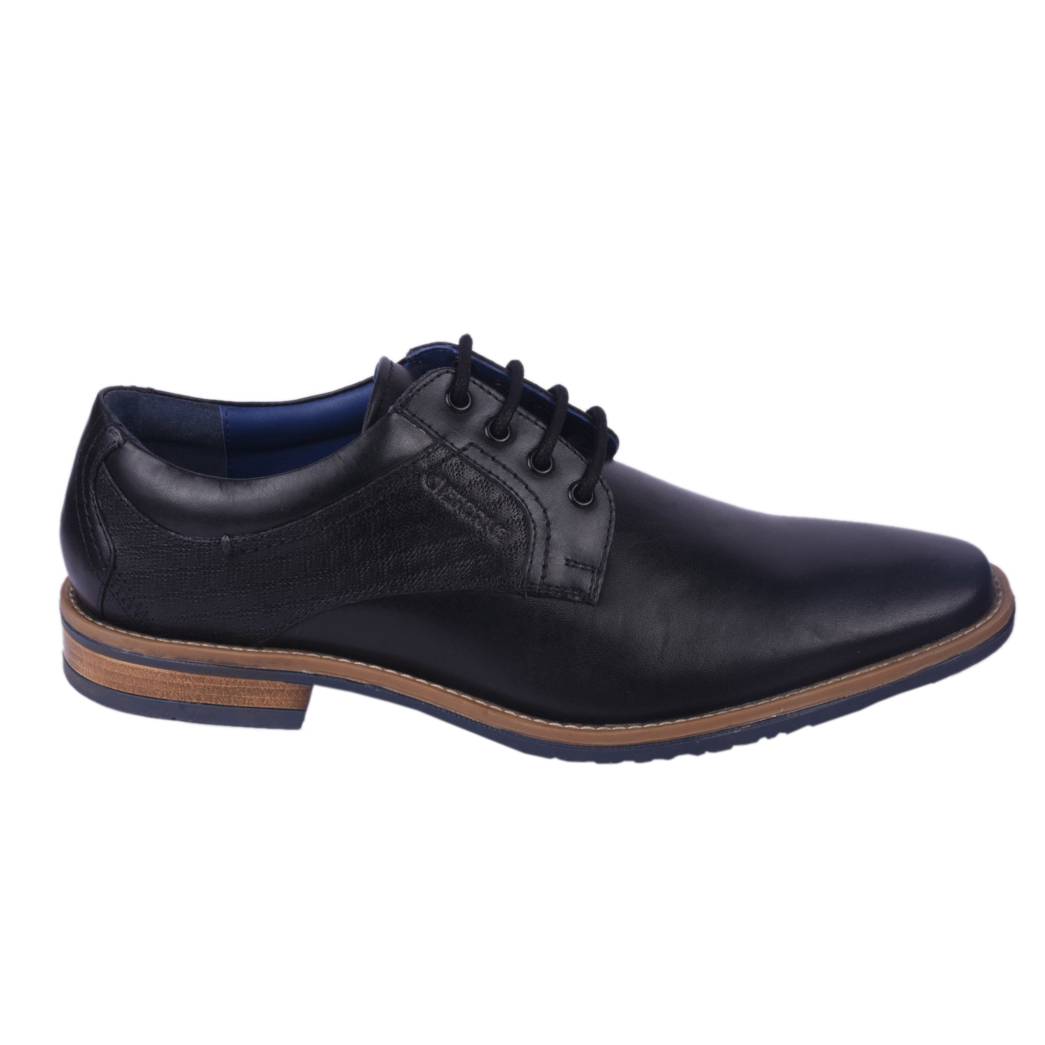 City Side-up Black Formal Shoe