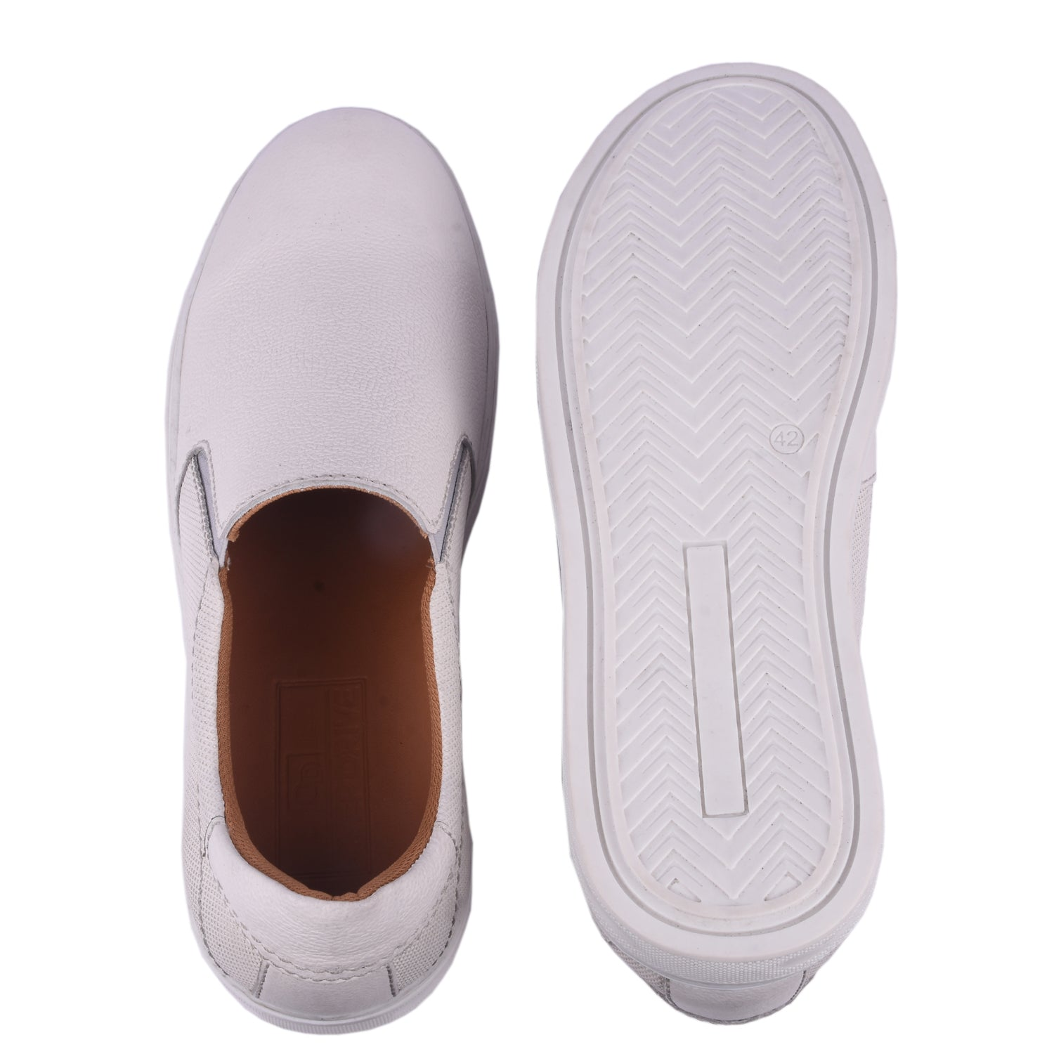 Step up Frost White Slip-on Shoe.