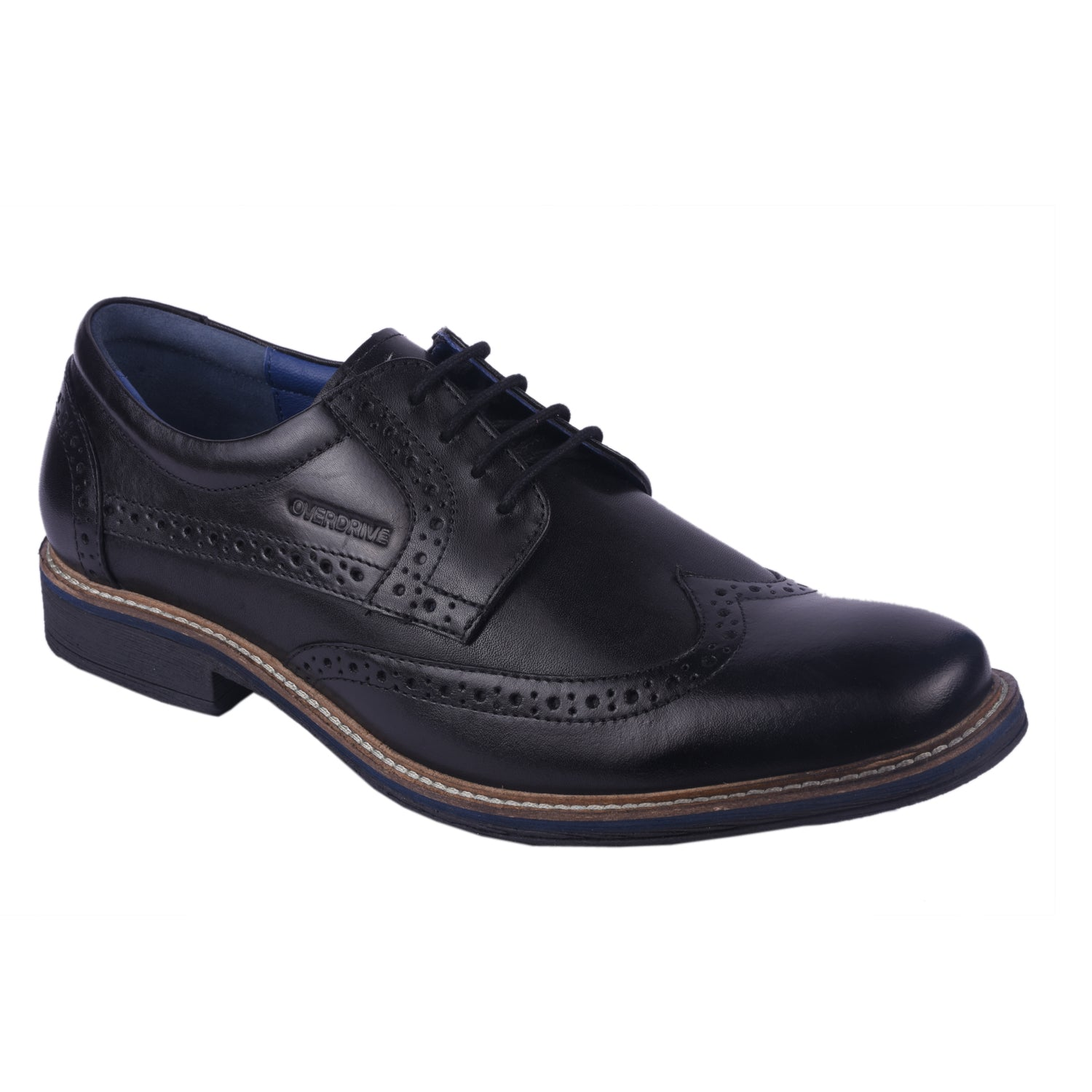 Overdrive Black Brogue Shoes
