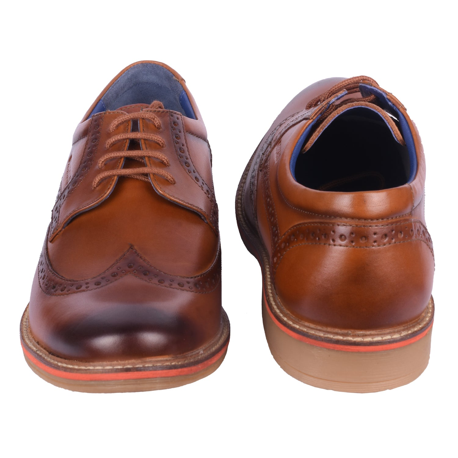Overdrive Tan Brogue Shoes