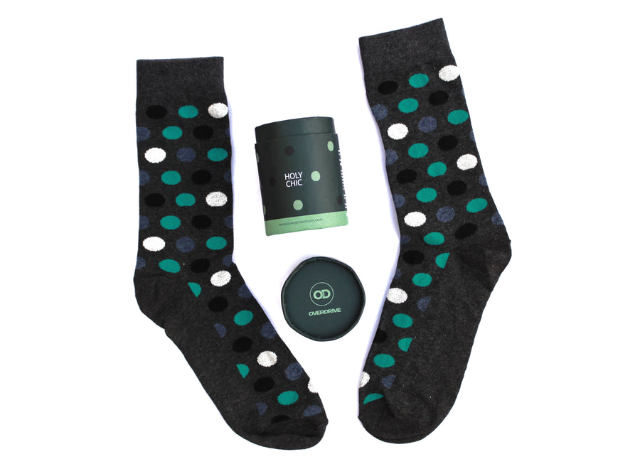 Men's Olive Holy Chic Breathable Cotton Socks