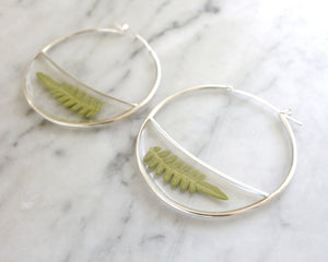 XL Fern Hoops - made-to-order