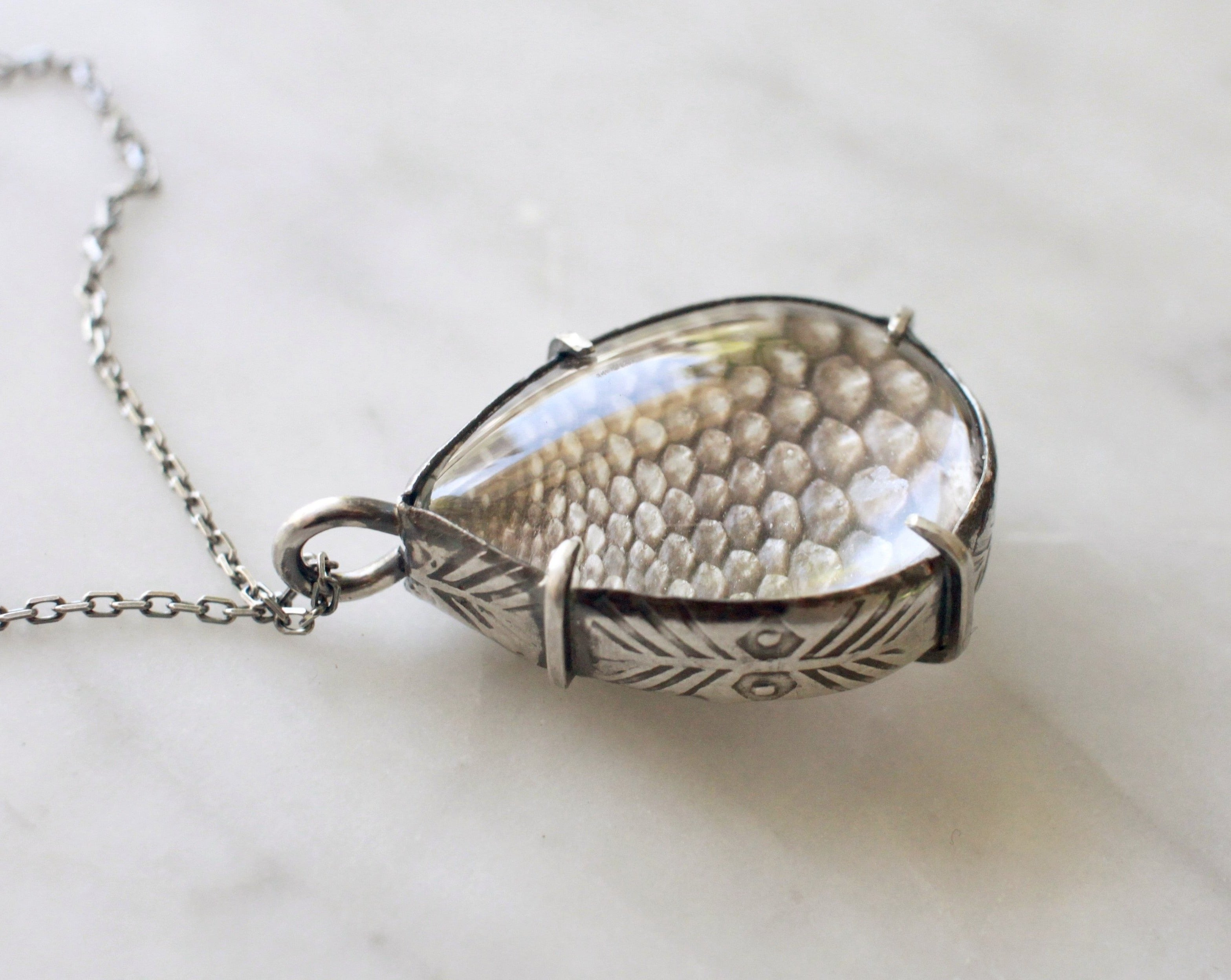 LG Snakeskin Pools of Light Pendant - made-to-order