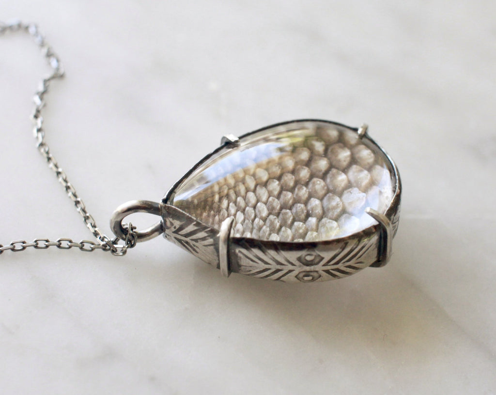 Snakeskin Pools of Light Pendant - made-to-order