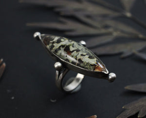 Lichen Marquise Ring - select your size