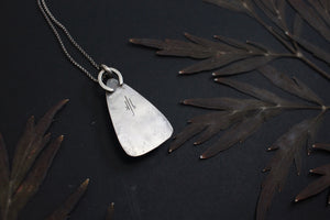 Lichen and Textured Sterling Silver Pendant
