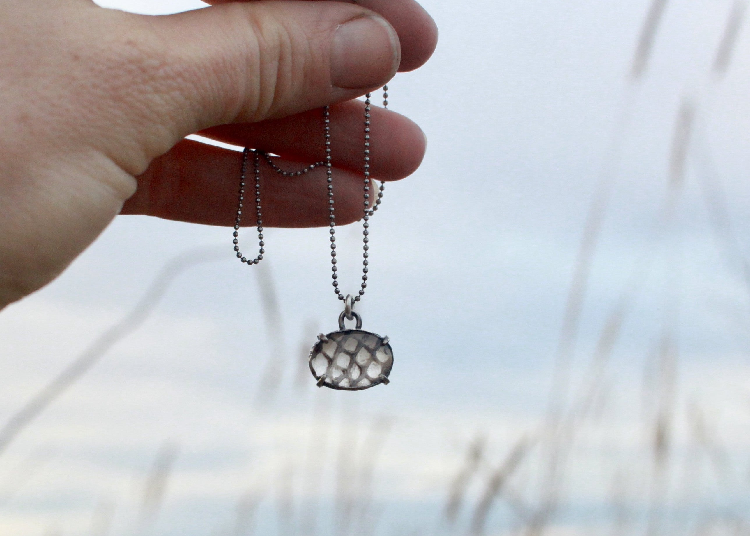 MINI Snakeskin - or - Leaf Skeleton Pools of Light Pendant - select your pendant
