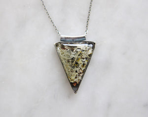 Forest Floor Triangle Pendants - choose your 'stone'