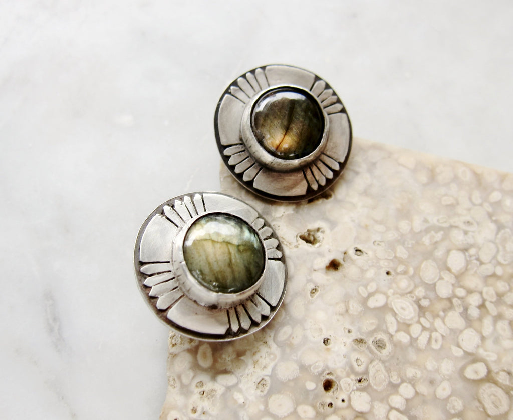 SOL - Labradorite Earrings