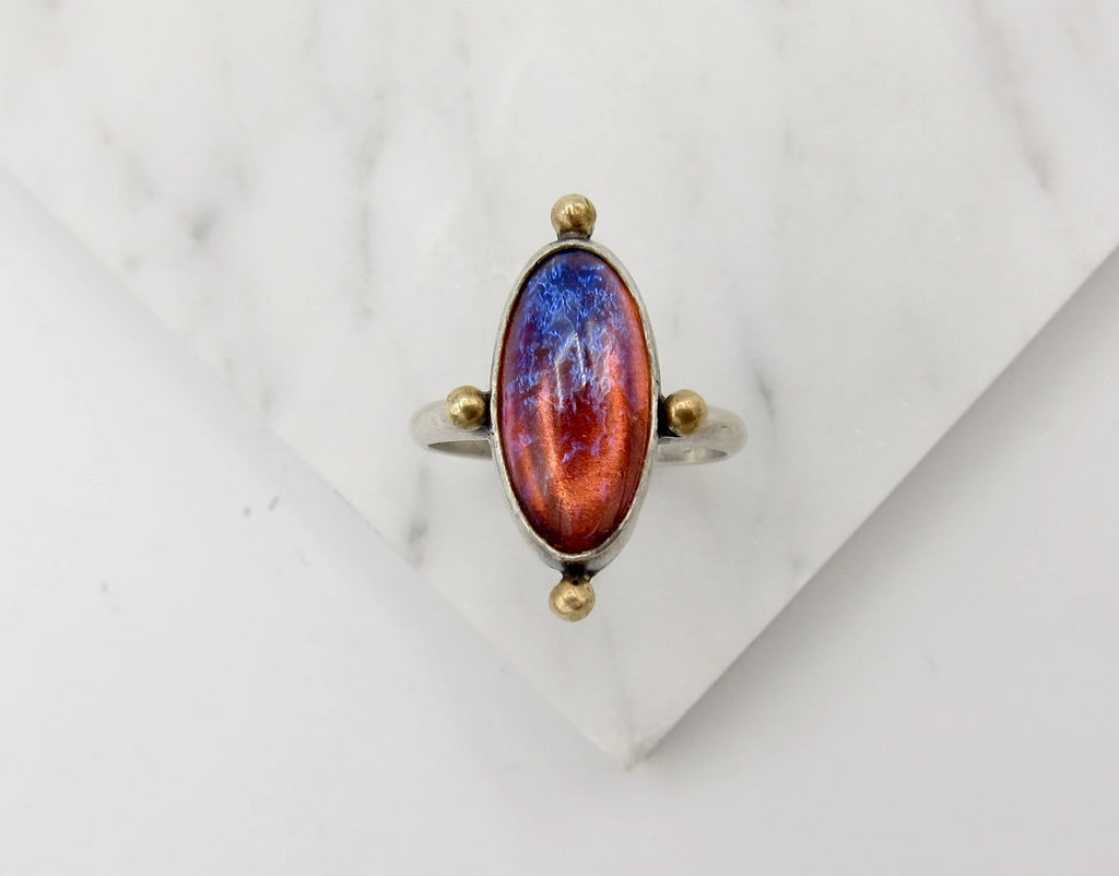 Dragons Breath Opal Ring - size 8.75 US