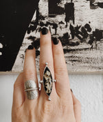 Lichen Marquise Ring - made-to-order