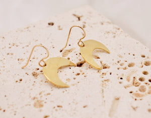 Small Crescent Earrings - made-to-order