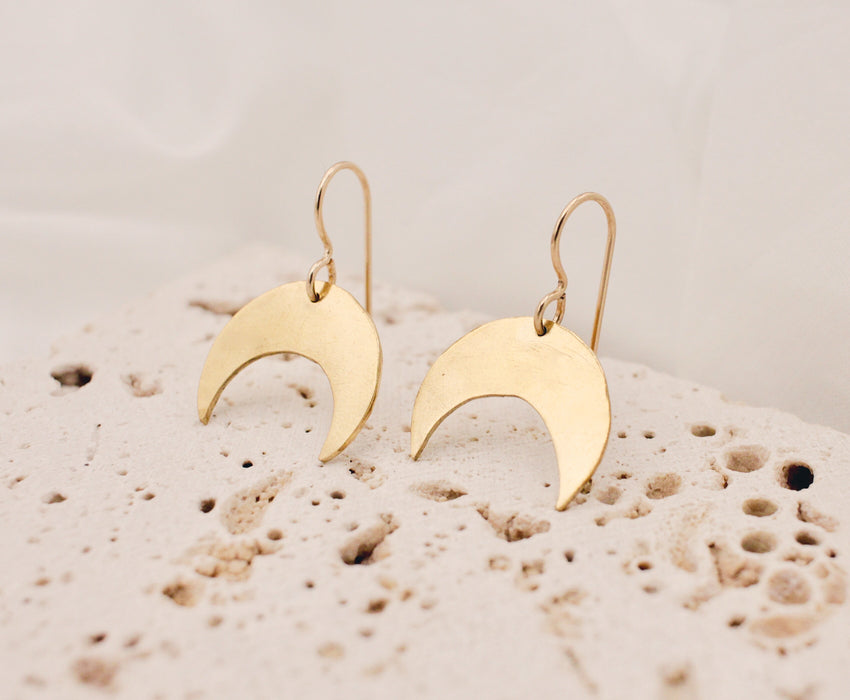 Crescent Earrings - SM - made-to-order
