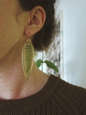 Spike Fern Earrings