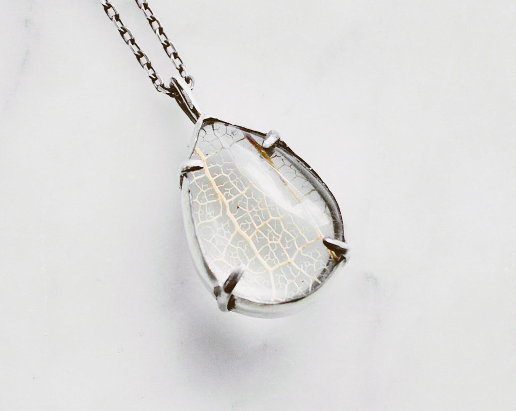 MED Leaf Skeleton Pools of Light Pendant - made-to-order