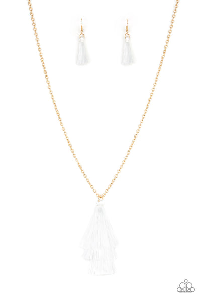 Triple The Tassel - White