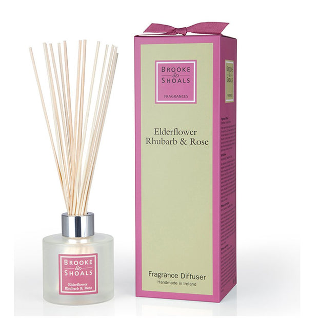 BROOKE & SHOALS REED DIFFUSER - ELDERFLOWER RHUBARB & ROSE