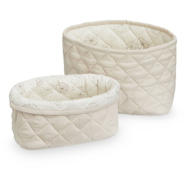 CAM CAM COPENHAGEN QUILTED STORAGE BASKETS SET - LIGHT SAND