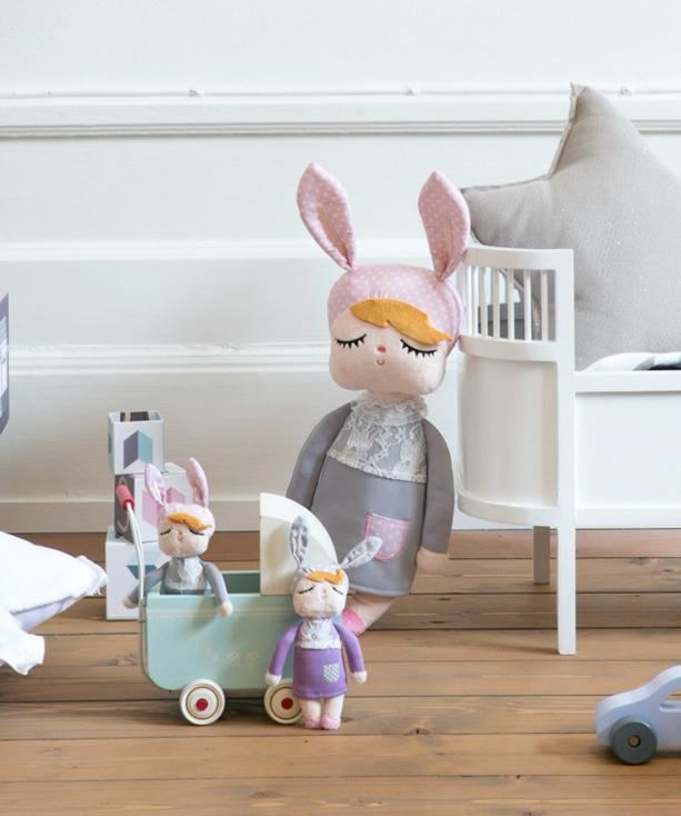 PERSONALISED MINIROOM LARGE RABBIT DOLL - GREY