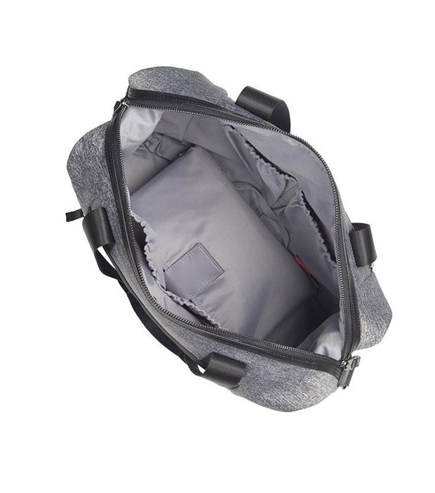 STORKSAK STEVIE LUXE SCUBA BABY CHANGING BAG - GREY MARL