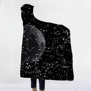 World Constellation Map 3D Hooded Blanket 1