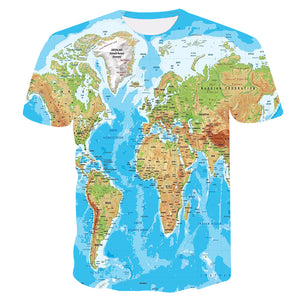 World Map 3D Printed Tops