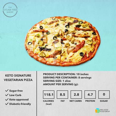 Keto Signature Vegetarian Pizza