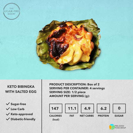 Keto Bibingka with Salted Egg