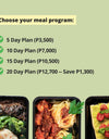FIT LIFE Meal Program (2000 calories per day)
