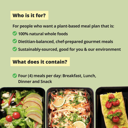 PLANT LIFE Meal Plan (1400 calories per day)