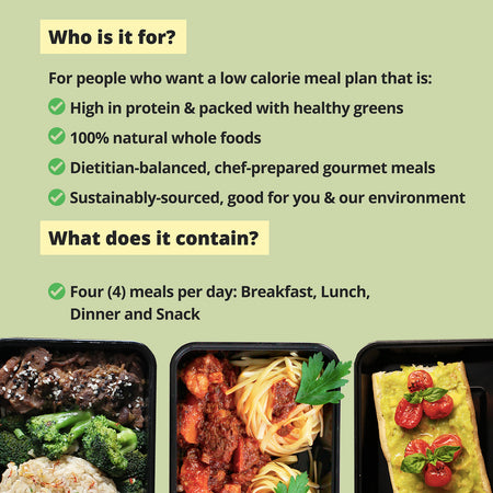 SLIM LIFE Meal Plan (1200 calories per day)
