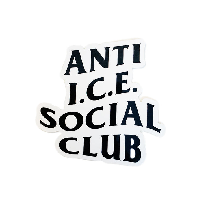 Anti-ICE Social Club Sticker