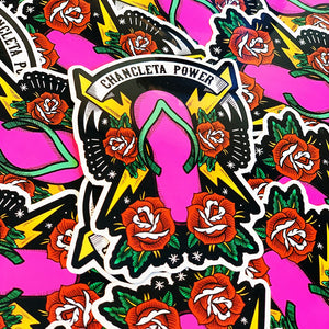 Chancleta Power sticker