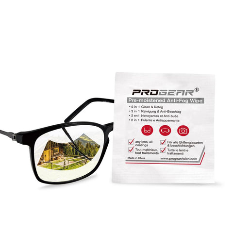 Anti-Fog Wipes for all glasses, eyewear, lenses - features