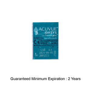 Contact lens expiry date - 1 DAY ACUVUE