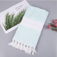 Load image into Gallery viewer, 180x100cm Organic 100%Cotton Turkish Peshtemal Authentic Towel Spa Gym Pool Beach Bath Hammam Authentic Beach Towel