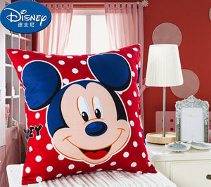 Disney Minnie Mickey Mouse Cushion Case  Pillow Case Cotton Cartoon Children girl boy kids Cushion Case Cover