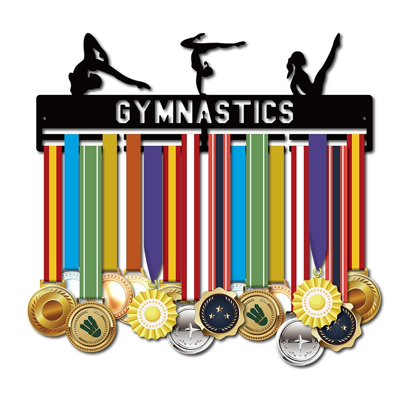 DDJOPH Sport medal hanger holder for Gymnast Medal display rack Gymnastics medal hanger 40cm L Hold 32+medals