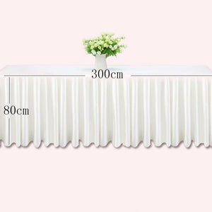 0.8*3m Table skirts white ice silk wedding table skirt table cloth decoration hotel banquet event hotel home table skirting pink