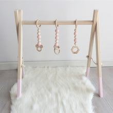 Load image into Gallery viewer, Nordic Baby Room Decor Play Gym Toy Wooden Nursery Sensory Toy Gift Infant Room Clothes Rack Accessories Photography Props
