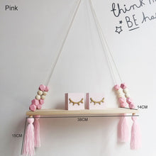 Load image into Gallery viewer, Room Storage Organization Wooden Beads Tassel Wall Shelves Wall Hanging Decor Creative Kids Room 1 Pcs Home Decor Ornaments