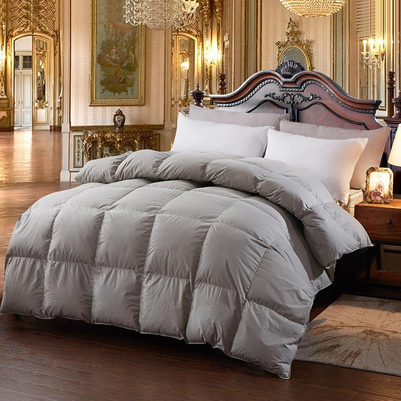 New Hot Goose Down Comforter For Winter &Autumn Duvet Insert Blanket Filling Feather Down Quilt Duvet King Queen Twin Size