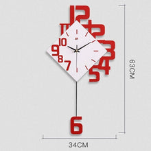 Load image into Gallery viewer, Swing Wall Clock Modern Design Nordic Style Living Room Wall Clocks Fashion Creative Bedroom Silent Quartz Watches
