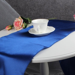 OurWarm 30x275cm Satin Table Runners Modern Table Runner Cloth for Wedding Marriage Banquet Hotel Home Party Table Decoration