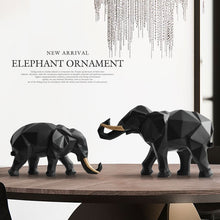Load image into Gallery viewer, Elephant figurine 2/set resin for home office hotel decoration tabletop animal modern craft India white Elephant statue decor