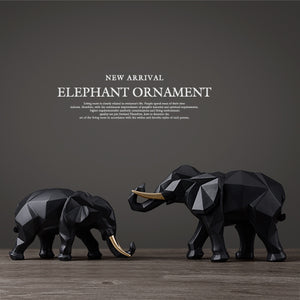 Elephant figurine 2/set resin for home office hotel decoration tabletop animal modern craft India white Elephant statue decor