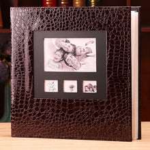 Load image into Gallery viewer, New Photo Album Leather Cover  6 Inch Plastic 6 Inch 600 Pockets Large-capacity Leather Family Children Baby Growth Insert Album