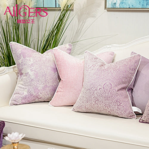 Avigers Cushion Covers Pink Pillows Decorative Pillows Jacquard Cushion Cases Throw Pillowcases for Sofa Bedroom Living Room Car