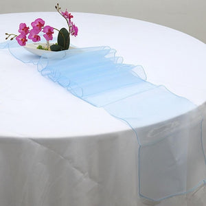 WITUSE Table Runner Sheer Organza Table Runner Wedding Party Banquet Decoration Bow Swag 22 Colors For table decoration